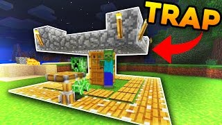 Playing Minecraft Pocket Edition | How To Make a Creeper Trap!! [Windows 10/PE]