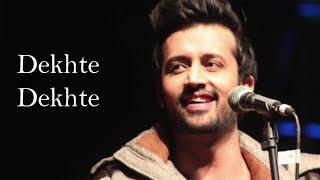Dekhte Dekhte Karaoke : Atif Aslam | Batti Gul Meter Chalu | Instrumental | KRS