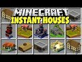 Minecraft INSTANT HOUSES MOD | BUILD ANY MINECRAFT HOUSE IN SECONDS!!