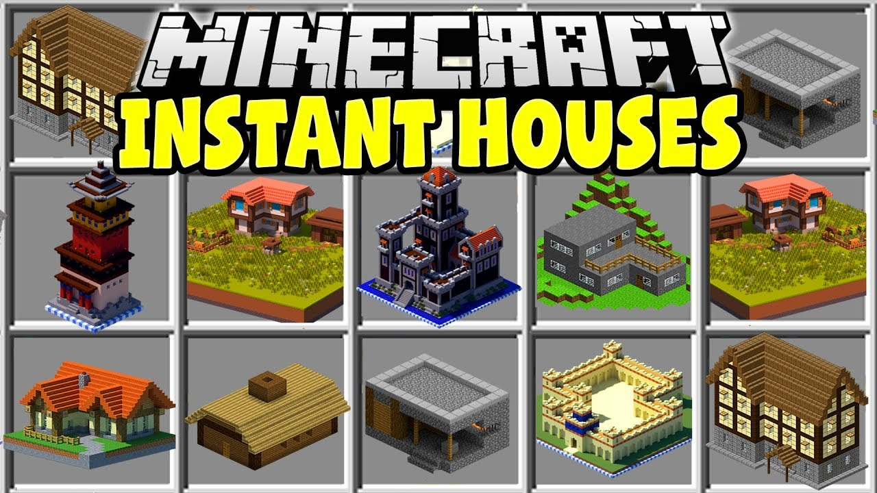 Minecraft Instant Houses Mod Build Any Minecraft House In Seconds