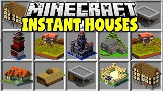 Minecraft INSTANT HOUSES MOD   BUILD ANY MINECRAFT HOUSE IN SECONDS!!