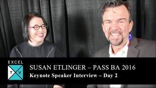 Susan Etlinger - Day 2 Keynote Interview - PASS BA Conference 2016