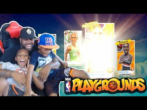 LEGENDARY PACK OPENING W/ MY SON & WE FINALLY HIT LEVEL 50! NBA Playgrounds Gameplay Ep. 18