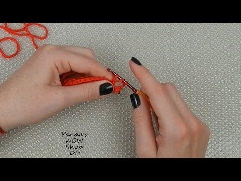 Вязание крючком для начинающих №6 ★ Полустолбик с накидом