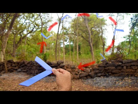 Paper boomerang origami - how to make a paper boomerang - origami