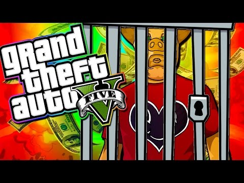 GTA 5 - A HACKER TRAPS US IN A CAGE!