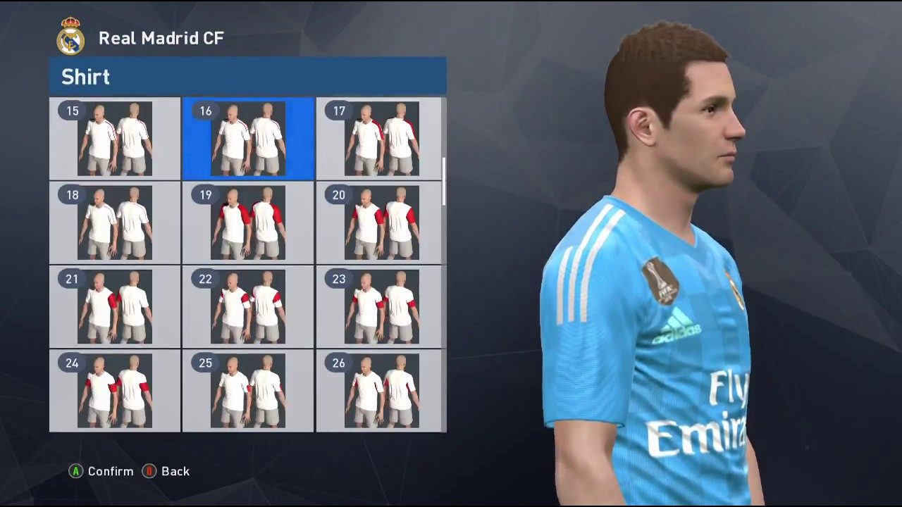 How to Get Licensed Real Madrid Team kit 2017 2018 in PES 2017 Edit Mode 4649fd857