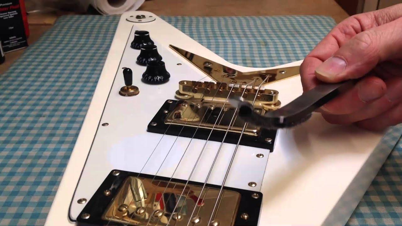guitar bridge height adjustment youtube. Black Bedroom Furniture Sets. Home Design Ideas