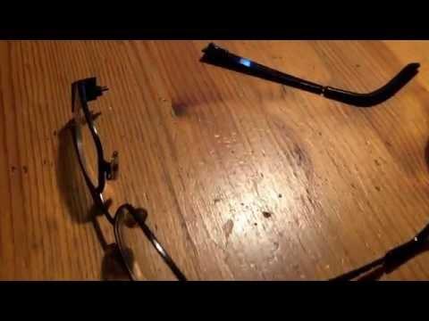 Brille reparieren Brillenbügel Reparatur mit Sekunden Kleber Anleitung