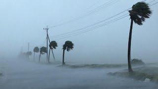 فيديو اعصار هايشن الذي ضرب اليابان وتسبب بأضرار بشرية ومادية كبيره