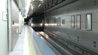 札幌市営地下鉄東豊線 7000形 栄町(H01)到着