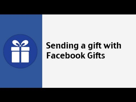 How to send a gift with Facebook Gifts - YouTube