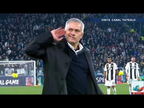 El feo gesto de Mourinho a la afición de la Juventus