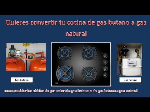 Convertir cocina de gas natural a gas butano cambiar for Cocina para gas natural