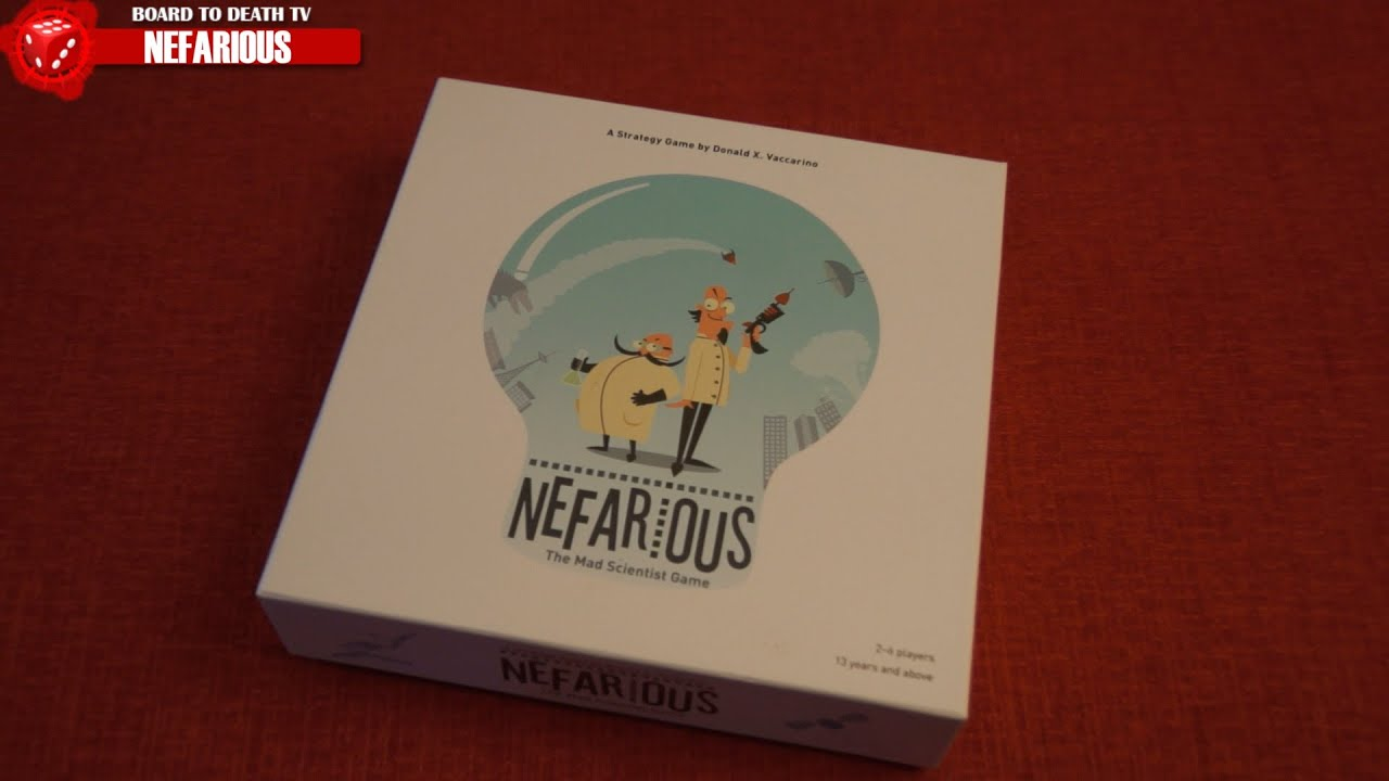 Nefarious Board Game Review Board To Death Youtube