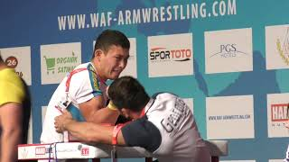 World Arm Wrestling Championship 2018 (DAY 6 SENIORS RIGHT HAND HIGHLIGHTS PART 2)