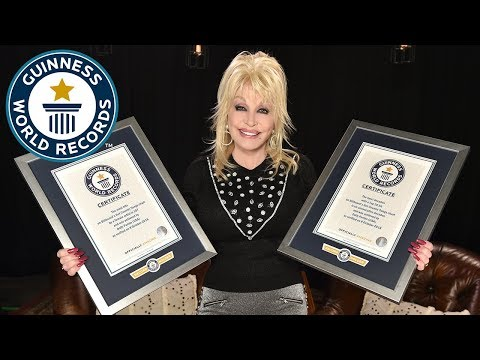 Dolly Parton talks about her career as she collects two record titles – Guinness World Records