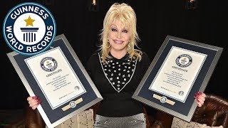 Dolly Parton talks about her career as she collects two record titles - Guinness World Records