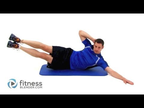 Pilates Oblique Crunch With Leg Raise (Lv 2)