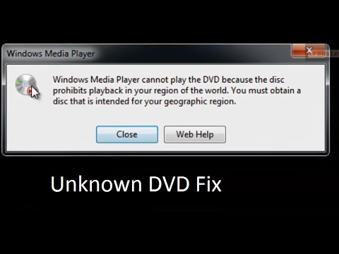 why is my dvd not playing on windows media player