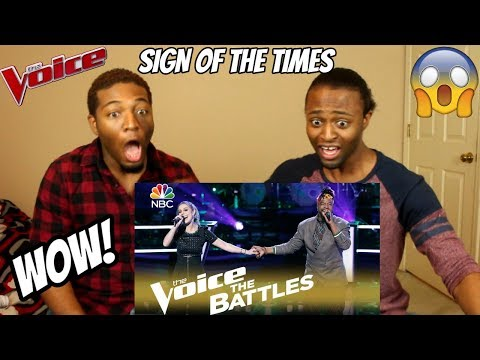 """The Voice 2018 Battle - D.R. King vs. Jackie Foster: """"Sign of the Times"""" (REACTION)"""