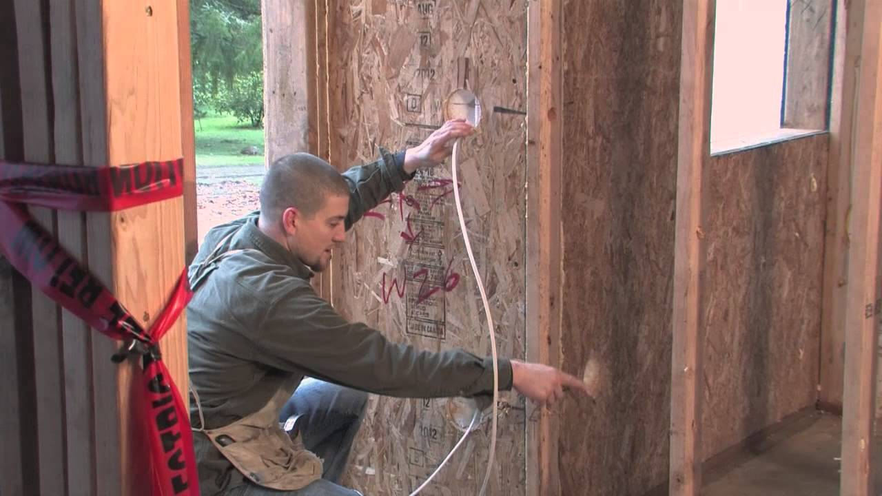 Rough In Electrical Wiring on a SIP home. - YouTube
