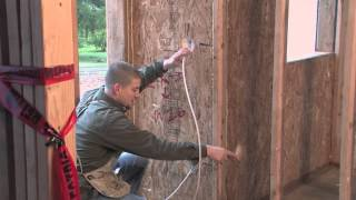 Rough In Electrical Wiring on a SIP home.(Electrician Trig Feltus with Destiny City Electric answers common questions on how to install electrical wiring in homes built with structural insulated panels ..., 2013-04-15T05:31:32.000Z)