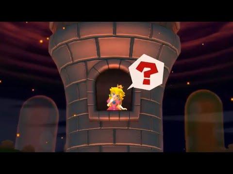 Reacción de Peach al ver que Peachette va a rescatarle   New Super Mario Bros. U Deluxe