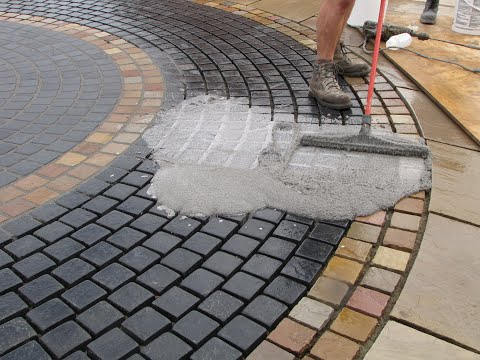 How to Point a Stone Sett Patio and Driveway with GftK's vdw 800 Epoxy Paving Jointing Mortar