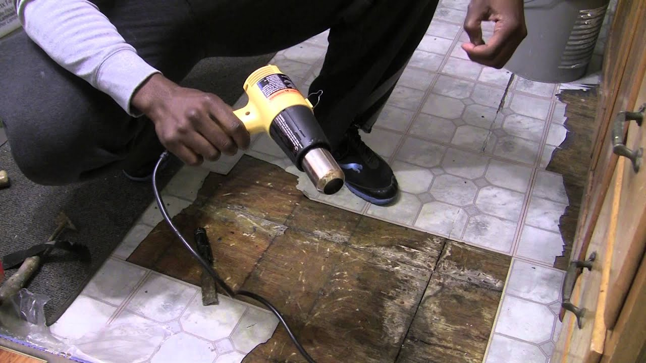 How to remove vinyl sticky tiles youtube how to remove vinyl sticky tiles dailygadgetfo Choice Image