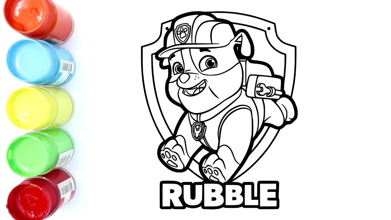 Mewarnai Rubble Paw Patrol Coloring Pages For Kids