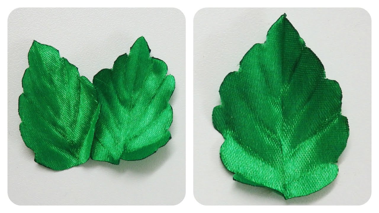 How to make ribbon leaves i green tutorial diy