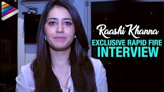 Raashi Khanna Exclusive Rapid Fire Interview | Supreme Movie | Rapid 55 | Telugu Filmnagar