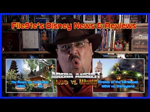 File91e's Disney News & Reviews ([WDW vs. Disneyland] Tiki Room vs. Pirates of the Caribbean)