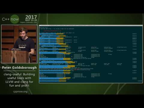 """P. Goldsborough """"clang-useful: Building useful tools with LLVM and clang for fun and profit"""""""