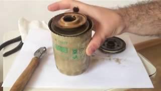 Вскрытие фильтра MANN с пробегом 17000+км и неодимовые магниты на корпус.