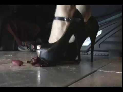high heels crush flowers 1