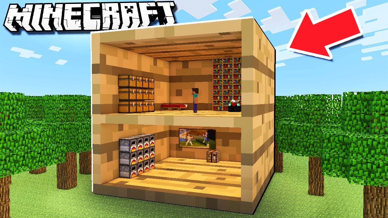 House INSIDE a Block Minecraft TROLL! - YouTube