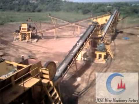 Quarry Site Operation With Jaw Crusher& Vibration Screen - JXSC In China