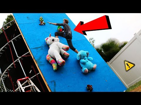 DONT Fall off the Random Object Climbing Wall!! (WILL IT CLIMB?!)