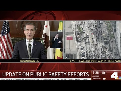 Live: Mayor Garcetti Makes Statement On Protests | NBCLA
