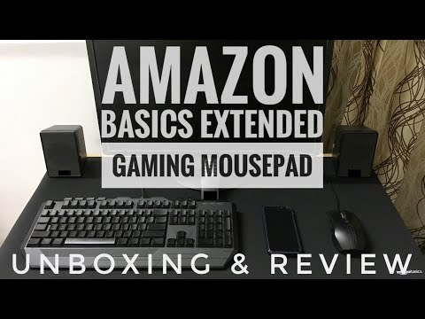 Amazon Basics Extended Gaming Mouse Pad | Unboxing | Review | Most Detailed