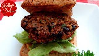 Air fryer Black Bean Burger Recipe-Cook