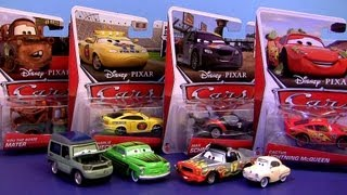 "24 Diecasts Cars 2 Case ""G"" Mattel Miles Axlerod with Open Hood CHASE 2013 Mama Topolino cars-toys"