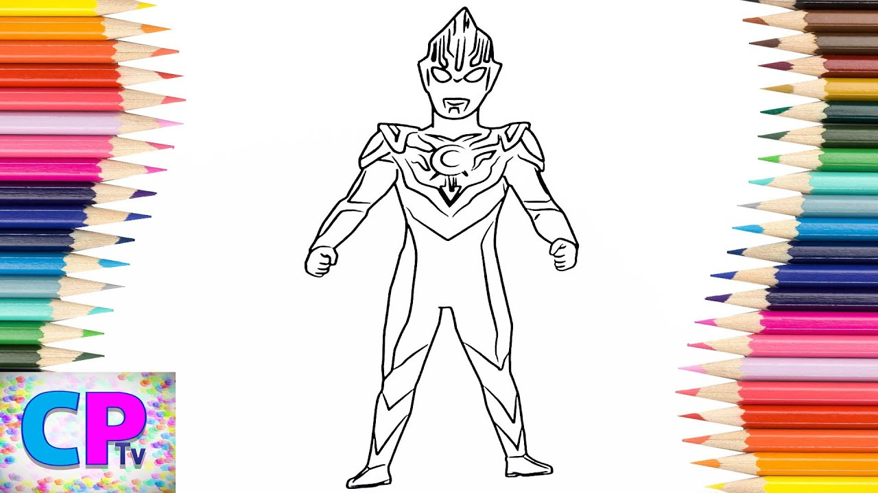 Ultraman Orb Coloring Pages For Kids How To Color Ultraman Coloring