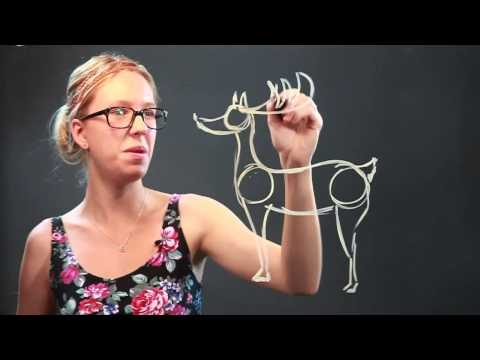 How To Draw A Simple Reindeer