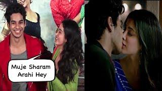 Jhanvi Kapoor Reveals Her And Ishaan Kissing Scenes  In Dhadak Movie