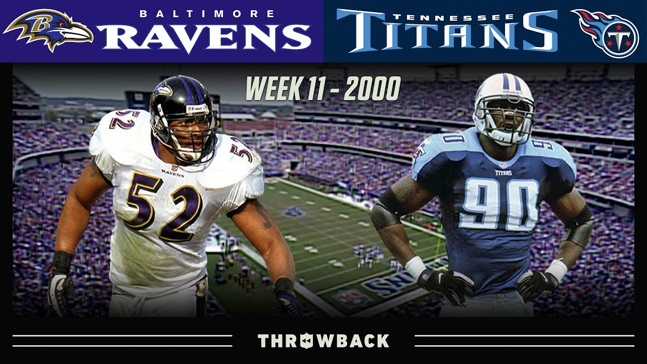 An Epic Finish in an Epic Rivalry! (Ravens vs. Titans 2000, Week 11)
