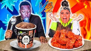 HOT VS COLD FOOD CHALLENGE 🔥