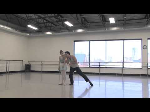 Sharon Wehner and Domenico Luciano rehearse Cheshire Cat from ALICE (in wonderland)